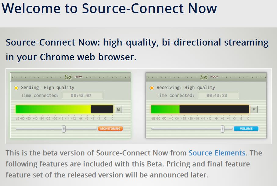 Source Connect screen capture