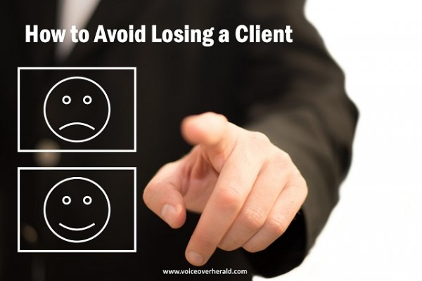 How to Avoid Losing a Voice Over Client