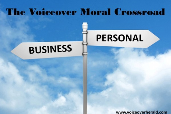 The Voiceover Moral Crossroad
