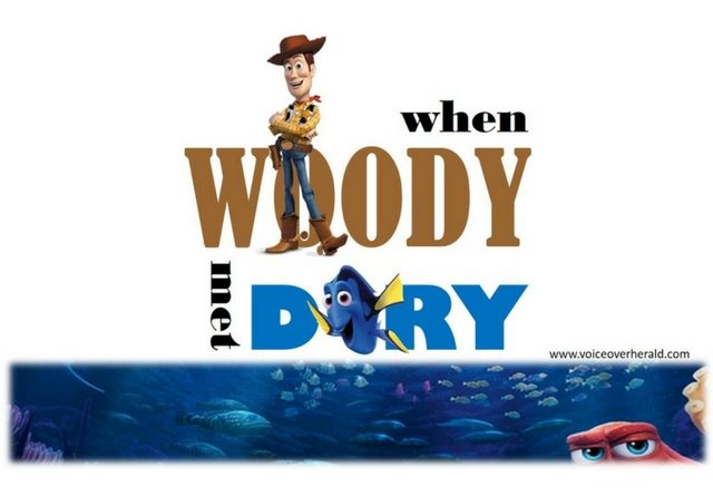 When Woody Met Dory – A Voice Over Off with Tom Hanks and Ellen DeGeneres