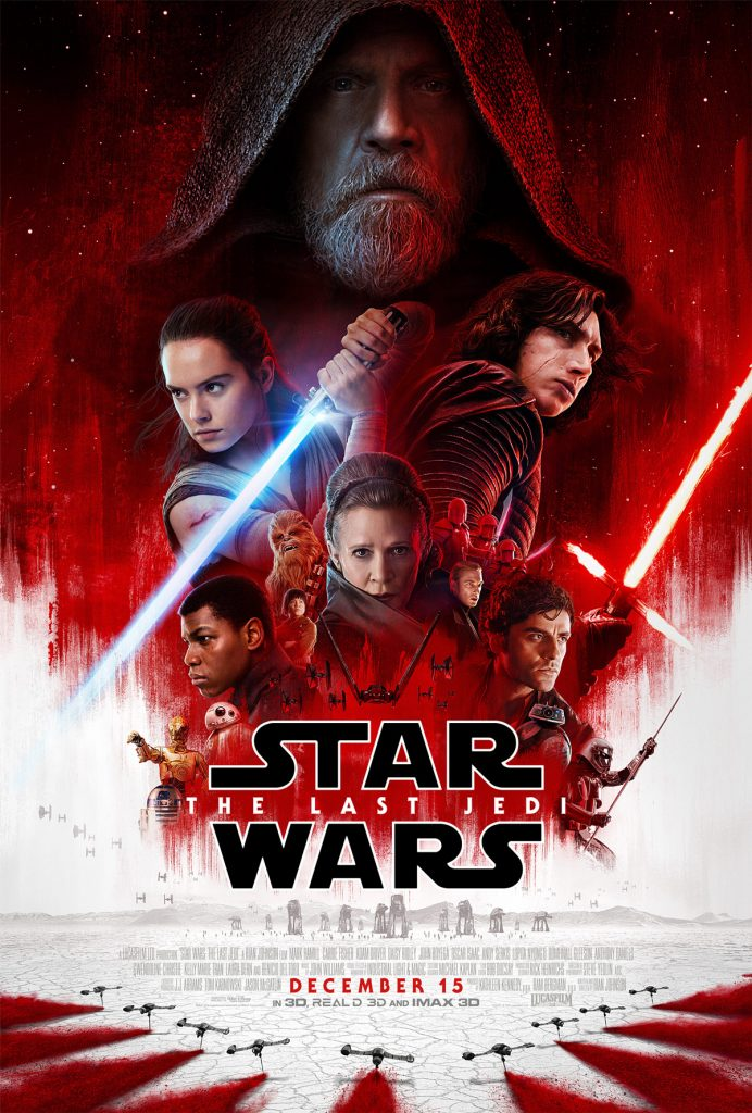 The theatrical poster for Star Wars: The Last Jedi. (Disney / Lucasfilm)