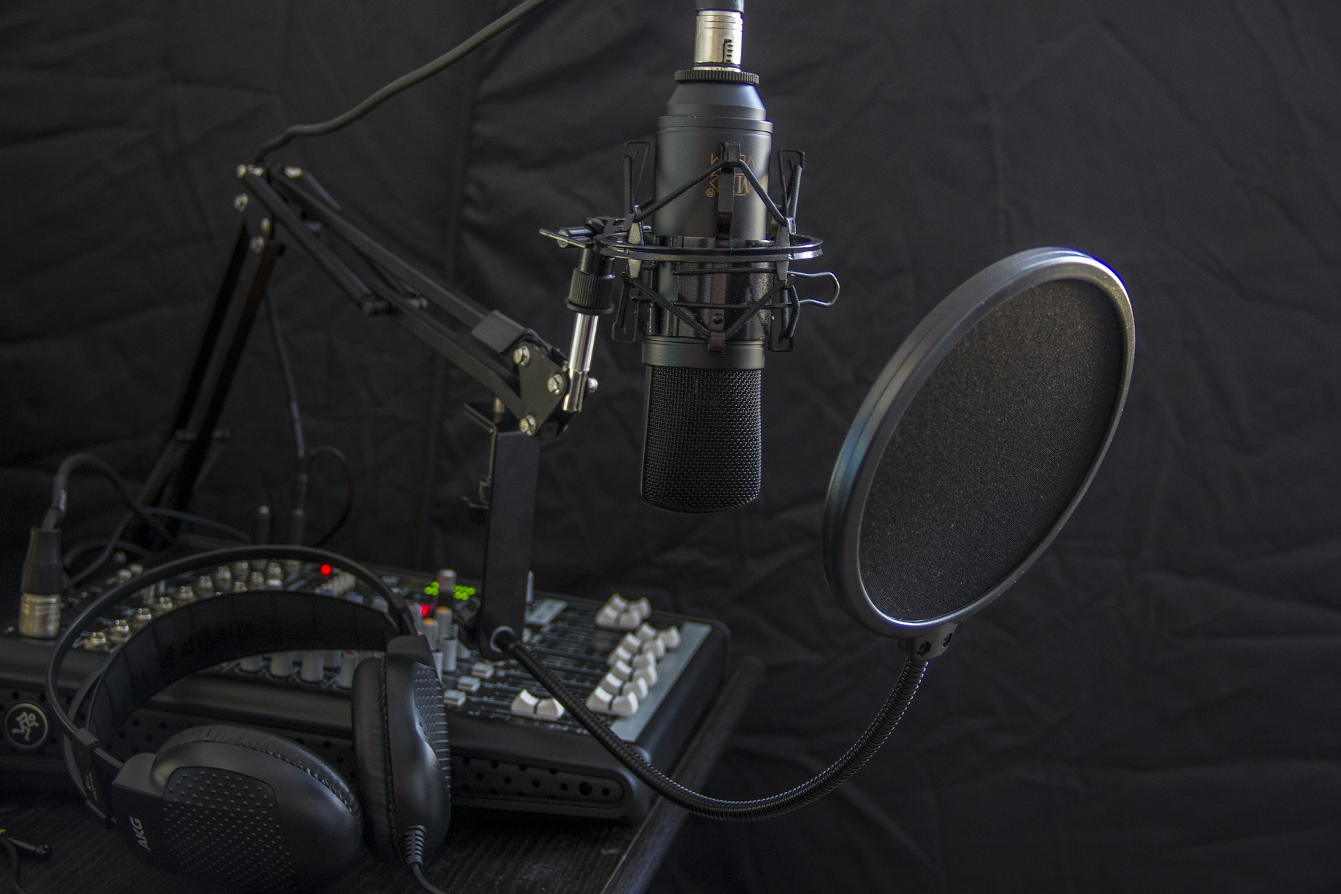 Voice over pop filter
